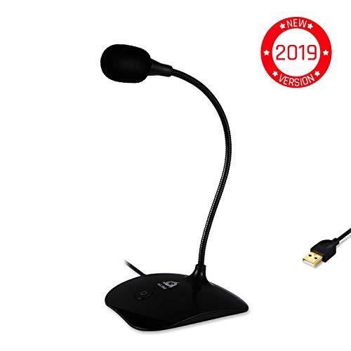 Mikrofon PC PS4 Blau 2019 Version KLIM Voice Desktop USB Mikrofonstand f/ür Laptop Computer Gaming Mic