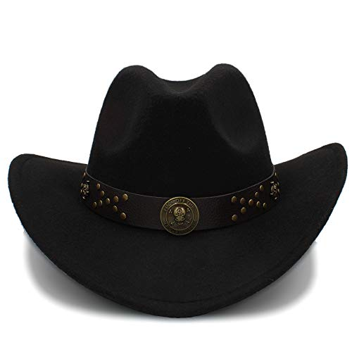 a23ae1f621619 JiuRui Gorros y Sombreros Vintage Cowgirl Cowboys Sombreros Unisex Felt  Jazz Cap
