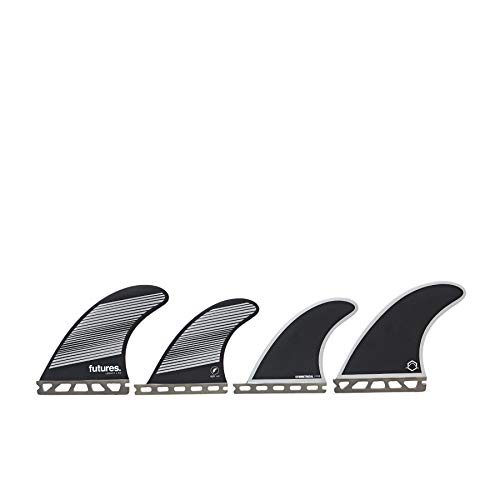 Futures F6 Legacy Series Quad Fin Medium Grey Black -