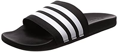 adidas Herren Adilette Cloudfoam Plus Stripes Dusch-& Badeschuhe, Schwarz (Negbás/Ftwbla/Negbás 000), 43 1/3 EU