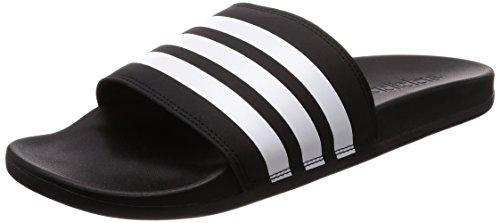 adidas Herren Adilette Cloudfoam Plus Stripes Dusch-& Badeschuhe, Schwarz (Negbás/Ftwbla 000), 43 1/3 EU