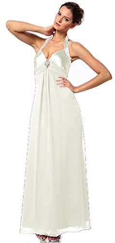 Brautkleid Elegant für Hochzeit Lang Standesamtkleid Hochzeitskleid Empire-Kleid Damen Chiffonkleid