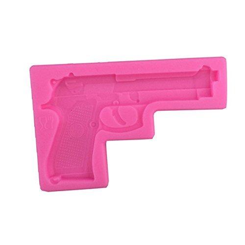 efivs Arts Gun Pistole 3D Weiche Silikon Kuchen dekorieren Fondant Zucker Craft Formen Candy Schokolade Form (Schokolade Gun Form)