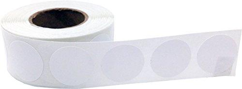 Blanco Circulo Punto Pegatinas, 1,91 Centímetros (3/4 Pulgada) de la Ronda, 500 Etiquetas en un Rollo