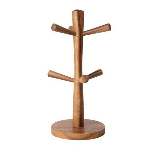 T&G Woodware Toskana: Aufrechter Tassenhalter für 6 Tassen aus Akazienholz. 310mm hoch
