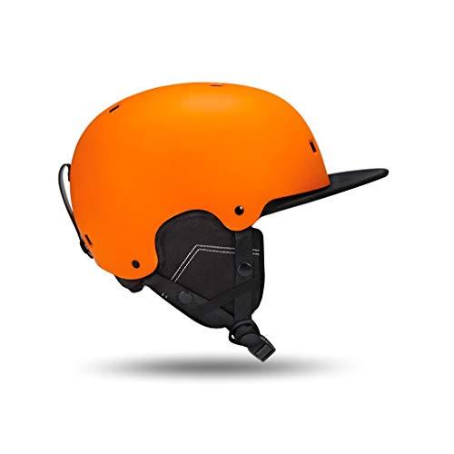 Yunyisujiao Ski & Snowboardhelm, Skifahren Schutzkappe Männer Frauen Skateboard Skating Helm Verstellbares Stirnband (Color : Navy Blue, Size : XL) (Helm Blue Football)