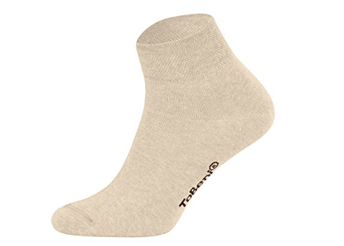 Tobeni 8 Paar Damen Herren Kurzsocken Quarter Socks Unisex Socken Kurz ohne Gummi Farbe Beige Grösse 39-42 -