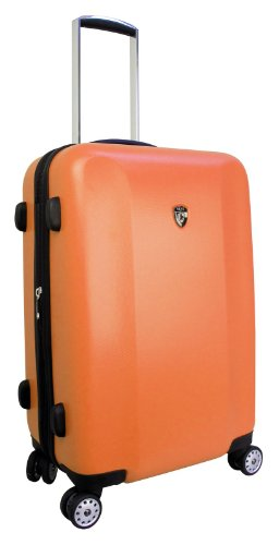 ... 50% SALE ... PREMIUM DESIGNER Hartschalen Koffer - Heys Core Quad Pink - Trolley mit 4 Rollen Medium Orange