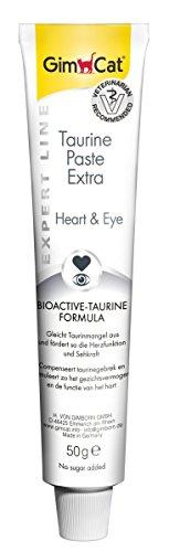 GimCat Expert line Taurine Paste Extra, Bioactive-Taurine Formula fördert Herzfunktion und Sehkraft, Funktionale Katzenpaste ohne Zuckerzusatz, 1 Tube (1 x 50 g) -