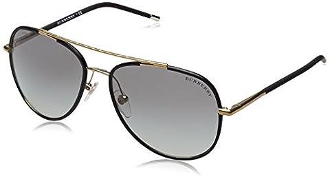 Burberry Herren Sonnenbrille BE3078J Schwarz (Onyx 114511), One size (Herstellergröße: 57)