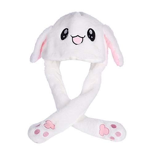 Guangmaoxin Bunny Ohren Stirnband Interessante Hase Jumping Kaninchen Ohr Hat Cute, Lustige Plüsch-Häschen-Hut-Kappe mit Den Ohren, Creative Geschenk Spielzeug - Plüschtier Qualität Kostüm