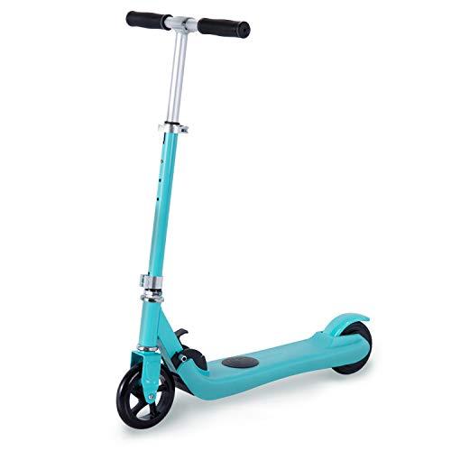 WINDEK Monopattini elettrici per Bambini Calcio Scooter Calcio per Iniziare velocità costante 4-6km/h Adatto ai Bambini Altezza Regolabile (Blu)