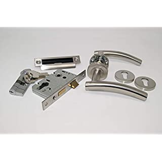 Arched Handle Pack (Internal Cylinder & Turn Lockset), FOR 45MM FIRE DOORS