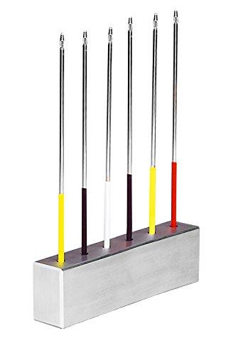 neoLab 1-2119 Aluminium-Ständer für Impfösenhalter, rund, Durchmesser 100 mm
