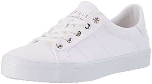 ESPRIT Damen Mindy Lace Up Sneakers, Weiß (100 White), 41 EU