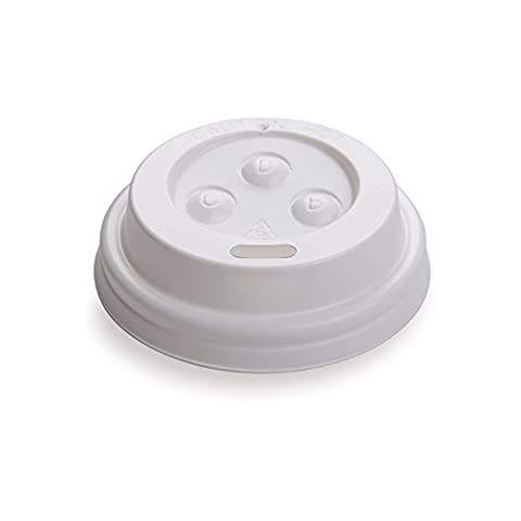 White PS Lids for 4 ounces Coffee and Tea Cup 500 count box