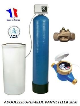 Adoucisseur d'eau bi bloc 150L fleck 2850