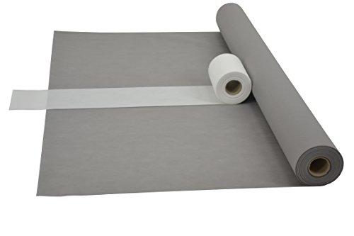 Sensalux Kombi-Set 1 Tischdeckenrolle 1,2m x 25m + Tischläufer 15cm (Farbe nach Wahl) Rolle grau Tischläufer weiß