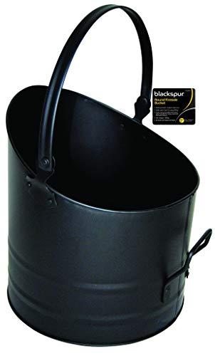 Blackspur BB-FS316 Rejilla de ventilación Redonda de Utensilios para Chimenea Cubo, Negro