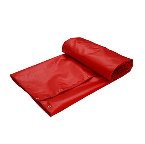 SJIAYB Lona Gruesa, Lona Impermeable de la protección Solar del PVC, paño al Aire Libre de la Prenda Impermeable de la sombrilla del Carro del Coche (Tamaño : 8 * 6m)