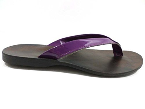 scarpe uomo BRADOR 46 EU infradito viola vernice AX107