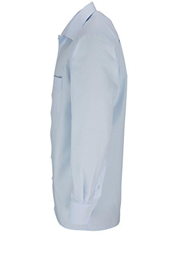 Marvelis Hemd Bügelfrei bleu Button-Downkragen in langarm (64cm) Hellblau