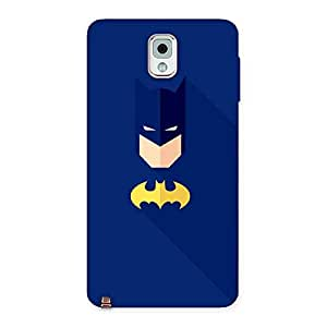 Radiant Yellow Knight Blue Face Back Case Cover for Galaxy Note 3