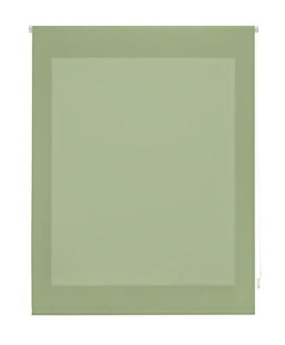 Uniestor Estor Enrollable Liso Traslúcido Tela Verde Pastel 100x175 cm