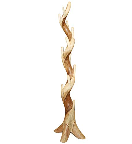 KMH®, Garderobenständer Cactus aus massivem Suar-Holz (#400027)