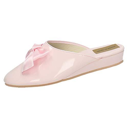 MADE IN SPAIN 15696 Zapato Rosa Charol Mujer Zapatillas