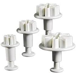 DeliaWinterfel Kit de 4 cortadores con Forma de Margarita pétalos Surtidos Pasta de azúcar decoración de Tartas glaseado Molde de Flor by