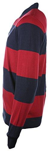 GANT Herren Sweatshirt The Original Barstripe Heavy Rugger Dunkelrot