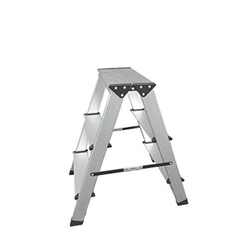YJLGRYF Leggero alluminio 多 Scaletta elegante design collegamento invisibile scaletta con antiscivolo robusta e larga scala pedale per fotografia, casa e pittura 330 libbre Scale a pioli