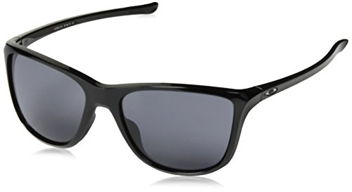 Oakley Damen Reverie 936201 55 Sonnenbrille, Schwarz (Polished Black/Grey),