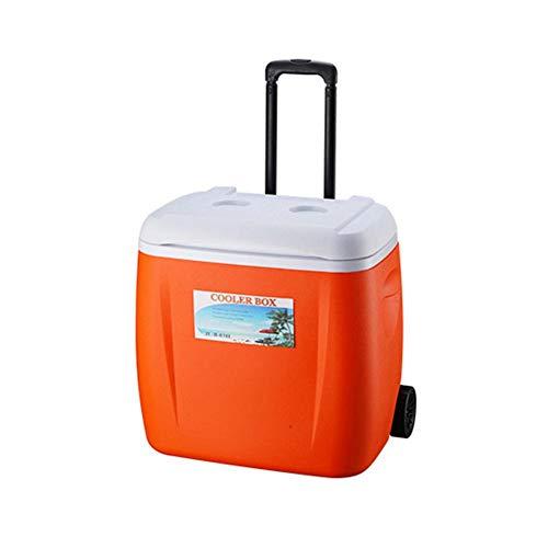 HEIRAO Caja refrigeradora, enfriadora con Ruedas con manija telescópica, Buena para Comida...
