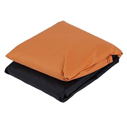 CHOULI Coprimoto Impermeabile XXXL Antipolvere Anti UV (Nero e Arancione)