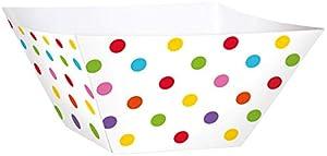 Amscan-147002Rainbow Buffet papel cuadrado cuencos