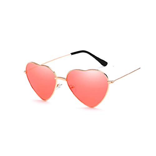 Sport-Sonnenbrillen, Vintage Sonnenbrillen, Ladies Heart Shaped Sunglasses Women Brand Designer Fashion LOVE Clear Ocean Lenses Pink Sun Glasses Female Oculos UV400 Red