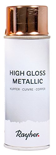 Rayher 34424638 High Gloss Metallic Spray, kupfer, Dose 200 ml