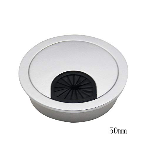 Godagoda Kabeldurchführungen Schreibtisch Tülle Kabeldurchlass silber Farbe Kunststoff Ø 50mm/53mm/60mm 1PC -