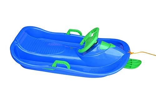 xelba Lenkschlitten - Bob mit Lenker und Bremse blau