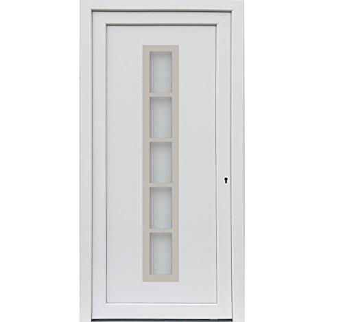 kuporta Kunststoff Haustür Merida Türen 98 x 200 cm DIN rechts weiß