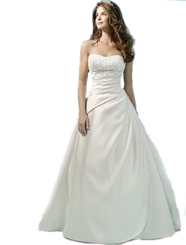 TW16 IVORY/ white size 8-26 Sequined A-line Sweetheart wedding reception bride evening dresses party full length prom gown ball