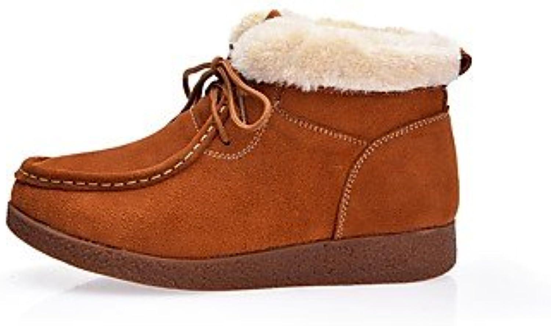 Heart&M Mujer Zapatos Ante Otoño Invierno Botas de nieve Forro de pelusa Botas Para Casual Negro Marrón Wine ,... -