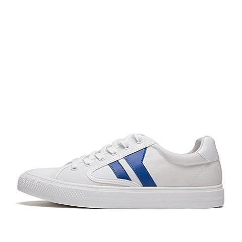Chaussures blanches pour hommes,chaussures occasionnelles d'épaisseur inférieure de ceinture foncée,chaussures de couleur-C Longueur du pied=23.8CM(9.4Inch)