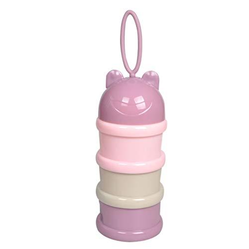 Miyanuby Babyflaschenboxen Milchpulver Dispenser Portable Container, Nicht-Spill Stackable Baby Fütterung Travel Food Storage Flasche Box, 3 Fächer