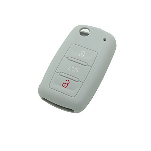 fassport-silicone-cover-skin-jacket-fit-for-volkswagen-seat-skoda-3-button-flip-remote-key-cv9800-gr