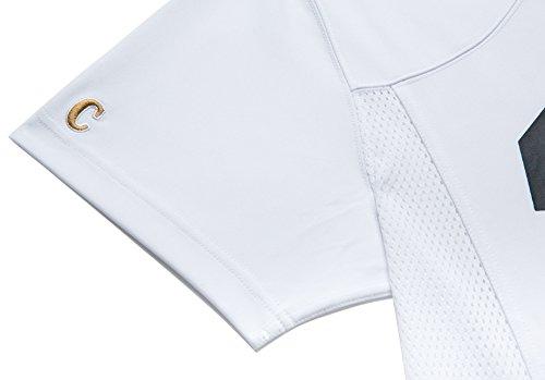 Chabos IIVII Herren Oberteile/T-Shirt Football Jersey Weiß