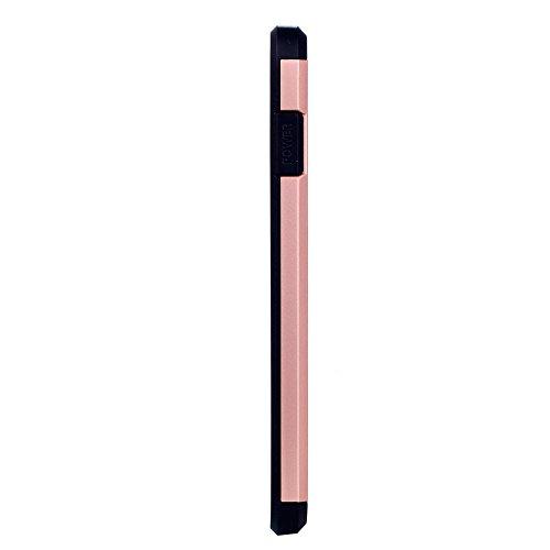 UKDANDANWEI Apple iPhone 7 Plus Double Couche Case Housse Silicone [Bouclier Légère] Etui de Protection for Apple iPhone 7 Plus - Saphir Rose Gold