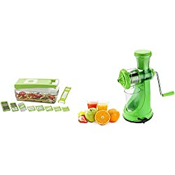 Primelife Fruit Jucier (New) + Sazavat 12 In 1 Chipser Niser Dicer (Color May Vary) Combo